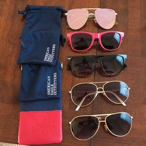 Bundle of 5 American Eagle and Le Specs Sunglasses